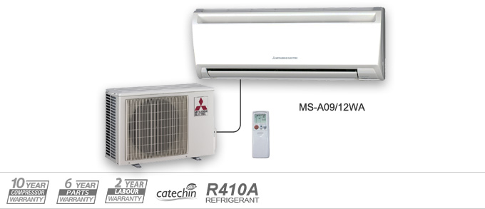 Example of Mitsubishi Electric Heating and Cooling MS-A Series air conditioners