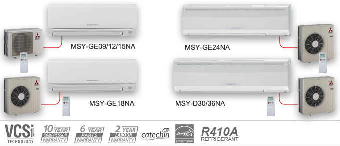 Example Of Mitsubishi Electric Heating And Cooling MSY Series Air  Conditioners