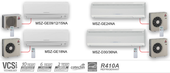 MSZ_banner mitsubishi mr slim m series ductless air conditioners & heat pumps  at gsmx.co