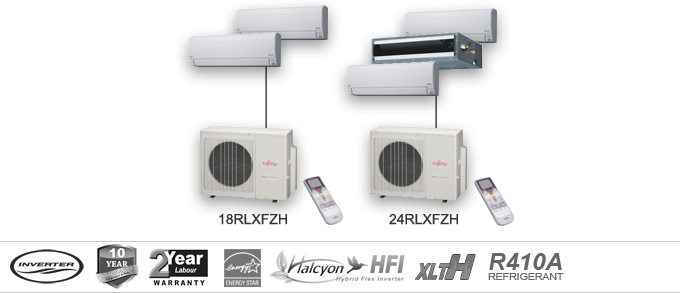 Fujitsu RLXFZH Series Multi Unit Heat Pumps