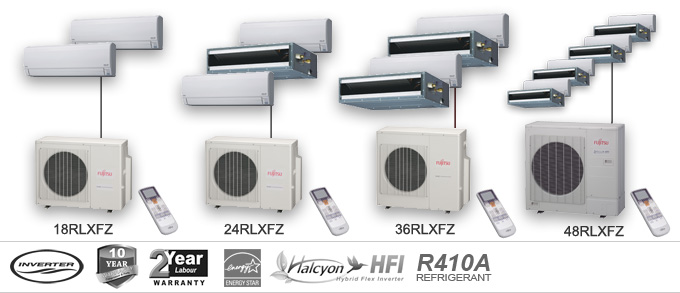 Fujitsu RLXFZ Series Multi Unit Heat Pumps