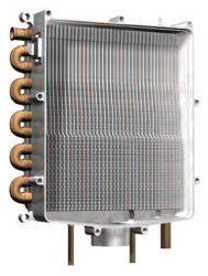 Diagram of Triangle Tube heat exchanger