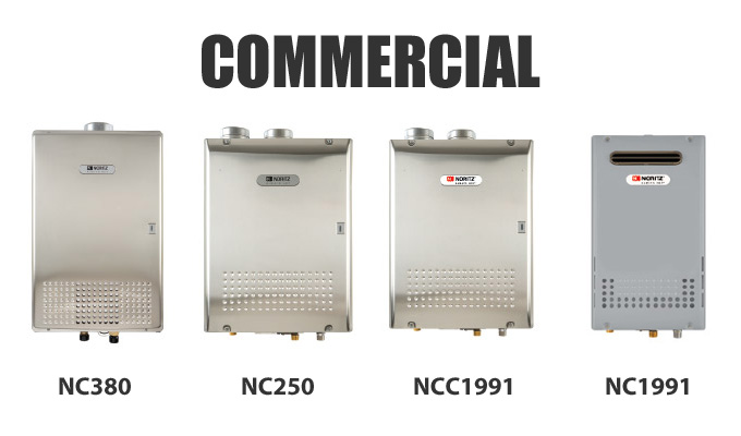 Example of Noritz Commercial Tankless Water Heaters