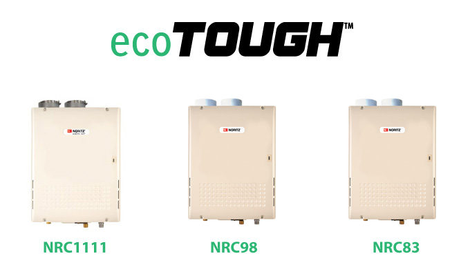 Example of Noritz ecoTOUGH Tankless Water Heaters