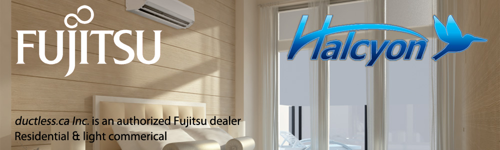 Fujitsu Halcyon Ductless AC in Toronto by Ductless.ca