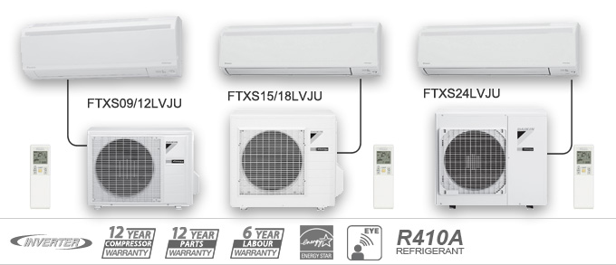 Example of Daikin FTXN LV Series Heat Pumps
