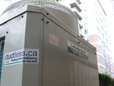 Ductless AC installation in Toronto of  Mitsubishi City-Multi