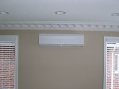 Ductless AC installation in Toronto of  Mitsubishi M-Series Evaporator