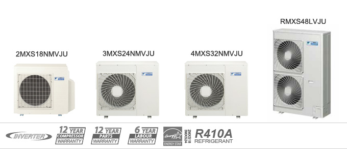Daikin MXS Series Multi Unit Heat Pumps