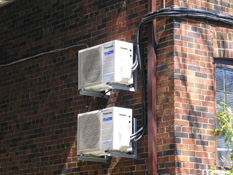 Ductless AC installation in Toronto of two Panasonic air conditioning units