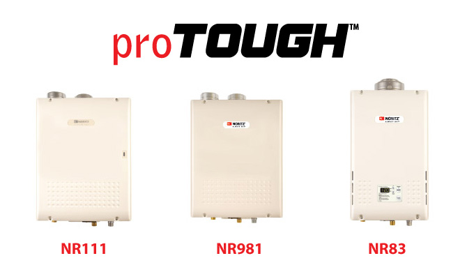 Example of Noritz proTOUGH Tankless Water Heaters