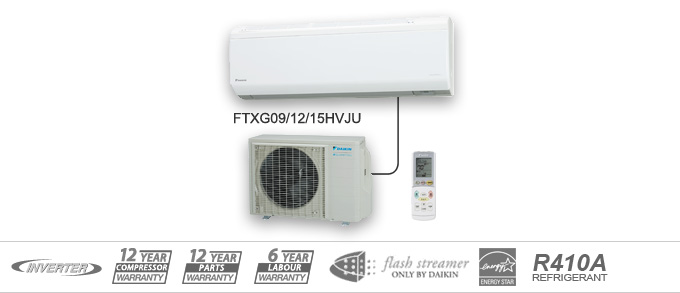 Example of Daikin FTXG Quaternity Heat Pumps