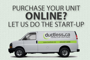 Start Up Services for ductless ac and boilers