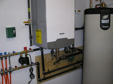 Toronto Boiler Installation by ductless.ca of a Triangle Tube boiler with indirect tank