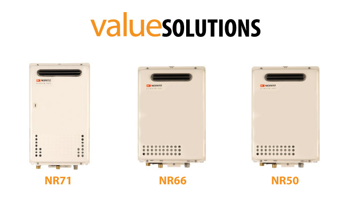 Example of Noritz valueSOLUTIONS Tankless Water Heaters