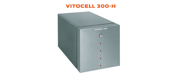 Example of Viessmann Vitocell 300-H hot water tank