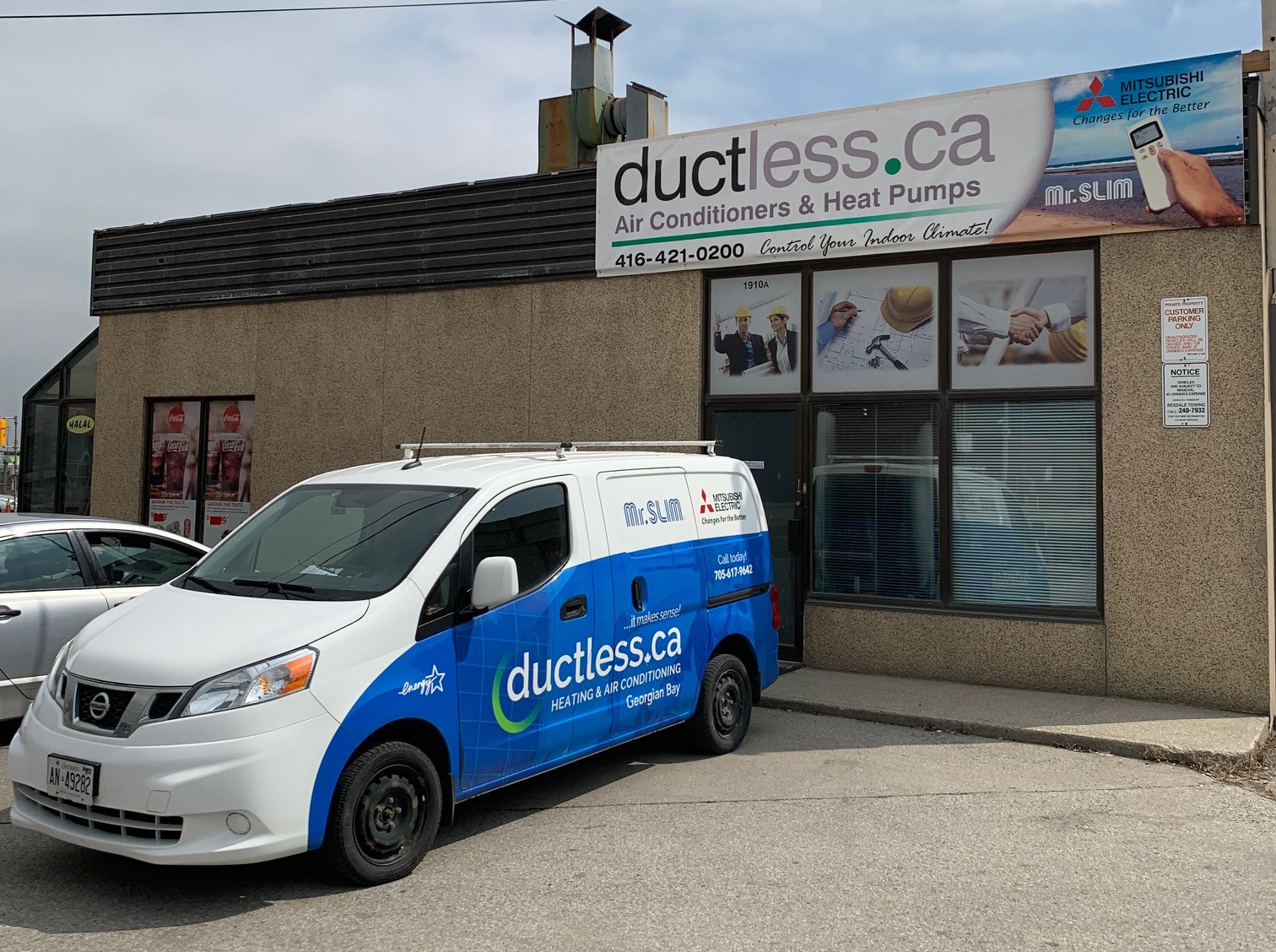 storefront ductless heating and air conditioning contractor