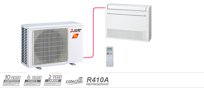 Mitsubishi Mr Slim M-Series Ductless Air Conditioners & Heat