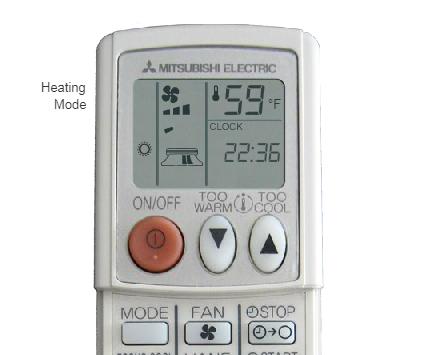 mitsubishi mr slim electric remote