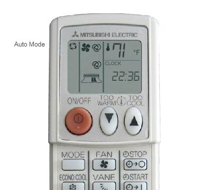 mitsubishi remote auto mode