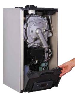 NTI TRX Boiler Front Cover Open