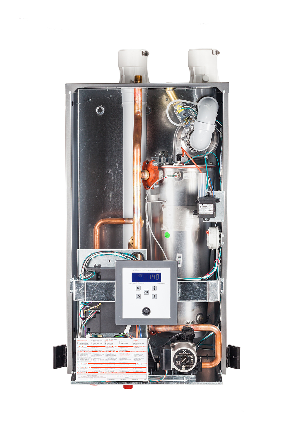 NTI Vmax Series Boiler with front cover open